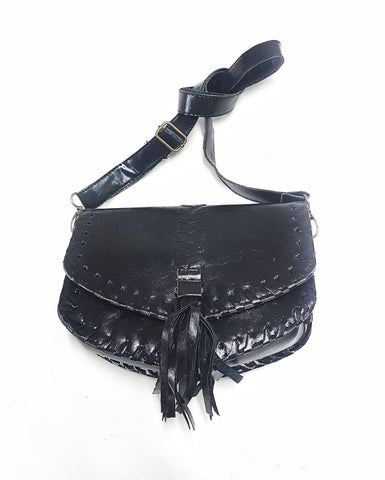 Western crossbody bag, black
