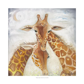 Rudo and Aisha the Giraffes - Ltd Edition Print