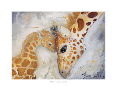 Mother and baby Giraffe- Ltd Edition Print