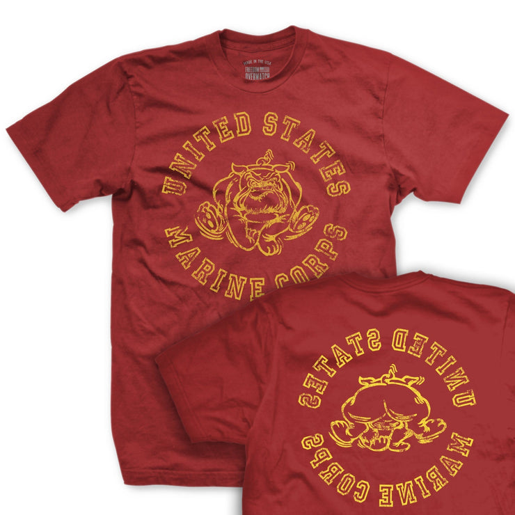 Retro USMC Bulldog T-Shirt - Mens T-shirts- Leatherneck For Life