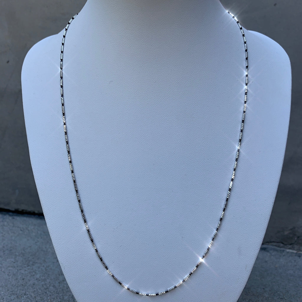 Black & White Sterling Silver Chain - House of Fine Gold