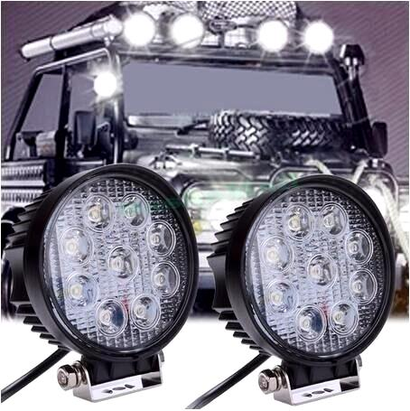 4 Inch Round High Power Off-Roading Spot Lights (Set of Two)