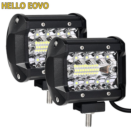 4 Inch LED 60W Spotlight + Floodlight Combo
