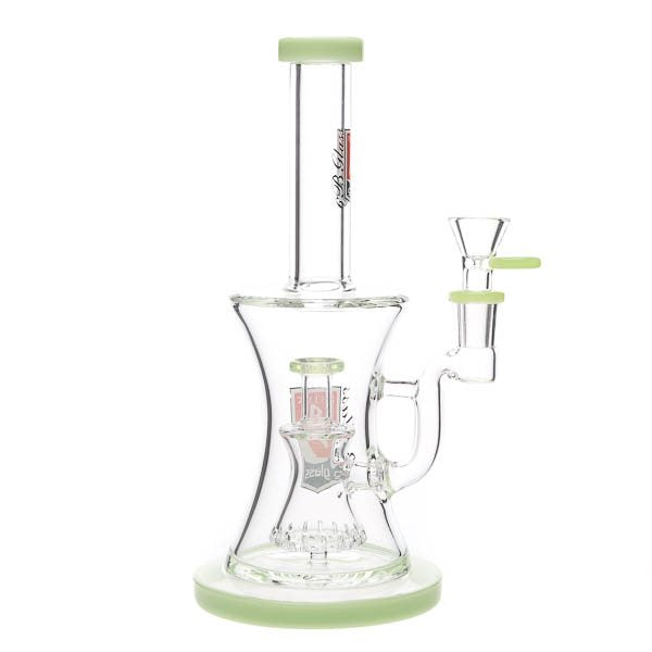 "6B Glass ""Hourglass"" Water Pipe"