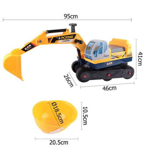 Kids Ride On Excavator 3 Digging Movement Yellow