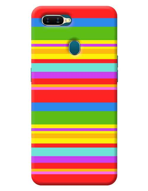 Abstract Oppo A7 Mobile Cover