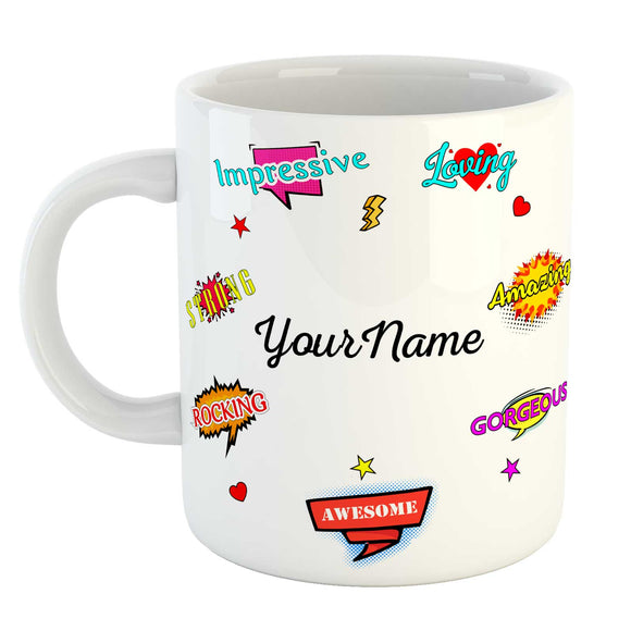 Personalized Name Mug - Best Gift for Birthday, Anniversary or Everyday Gifting