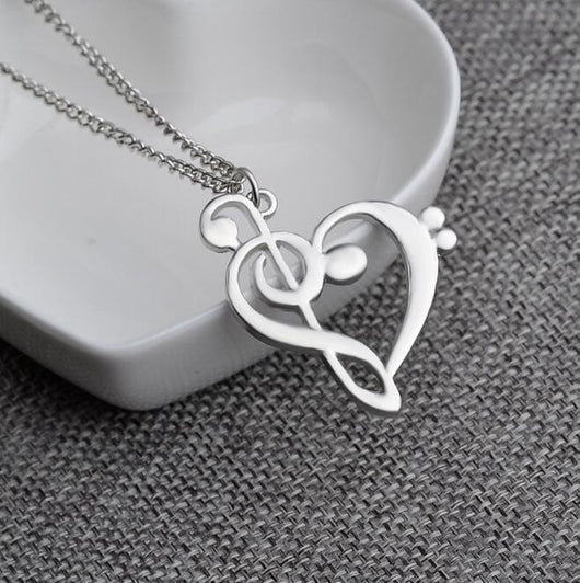 Chester Bennington Memoriam Heart Note Necklace [Limited]