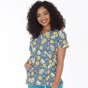 Three Pocket V-Neck Top - SUNNY SIDE UP