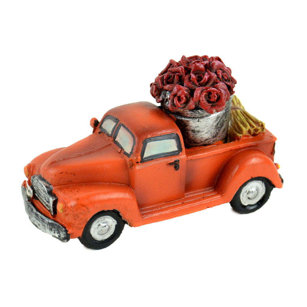 Mini Orange Truck With Roses