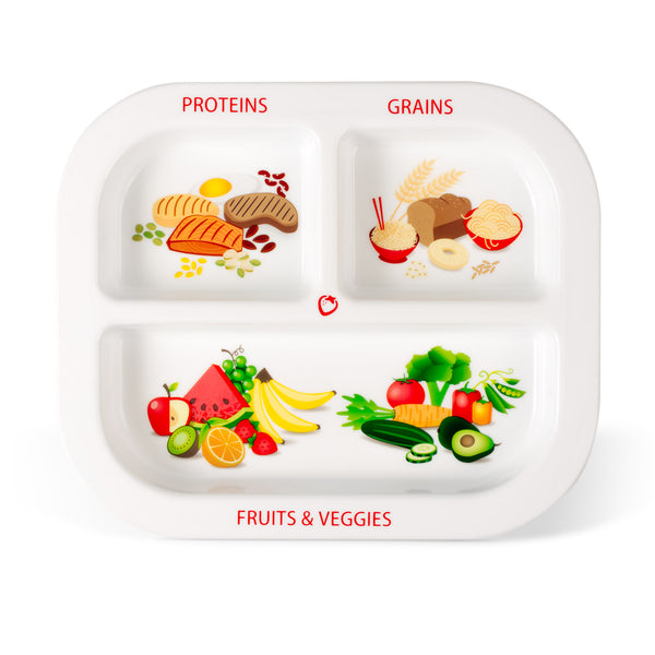 Healthy Habits Divided Kids Plate