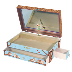 Owl Travellers music box open view | Musical treasure boxes and decor for kids from Enchantmints | unusual gifts for owl lovers