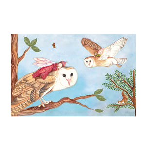Owl Travellers music box top view | Musical treasure boxes and decor for kids from Enchantmints | unusual gifts for owl lovers