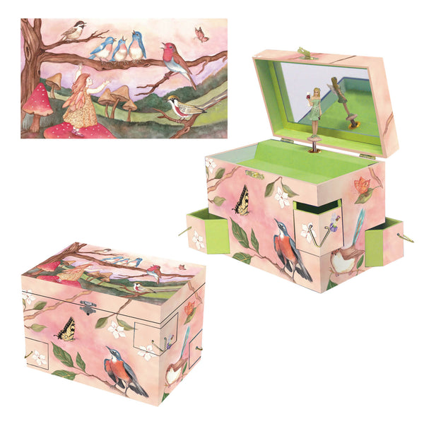 Wings of a song music box 3-in-1 view | Musical treasure boxes and decor for kids from Enchantmints | unusual gifts for kids