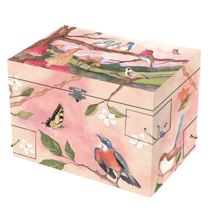 Wings of a song music box closed view | Musical treasure boxes and decor for kids from Enchantmints | unusual gifts for kids
