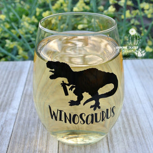 Winosaurus - Funny Wine Gift for Mom, Best Friend- Dinosaur Wine Gifts