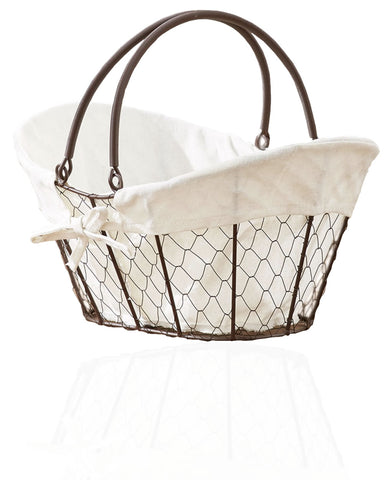 Decorative Country Home Farmhouse Liner Chicken Wire Storage Basket