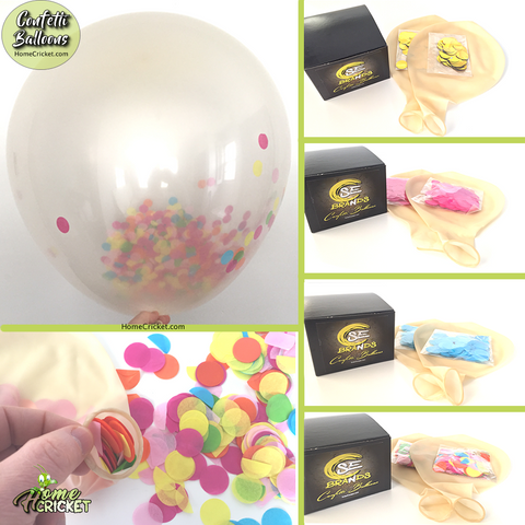 "36"" Confetti Balloons 2 Pcs Jumbo Latex Balloon Filled W/ Multi Color Confetti"