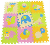 9 pc set Animal Crawling Play Puzzle Foam Floor Mat Rug Children Game
