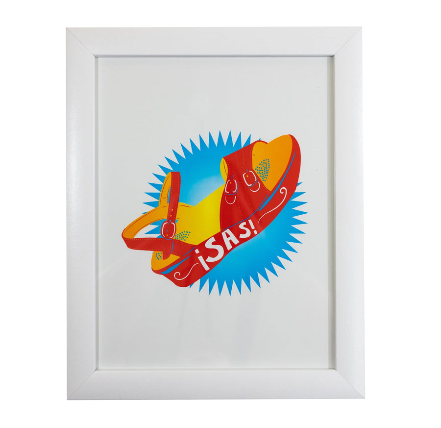 ¡SAS! Chancla Art Print