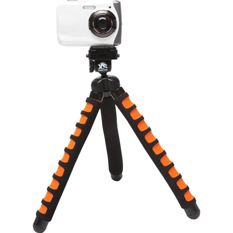 Camera Accessories - X-Sories Big Bendy Tripod With Ball Head (Colors Available In Black-Orange, Grey & Red)
