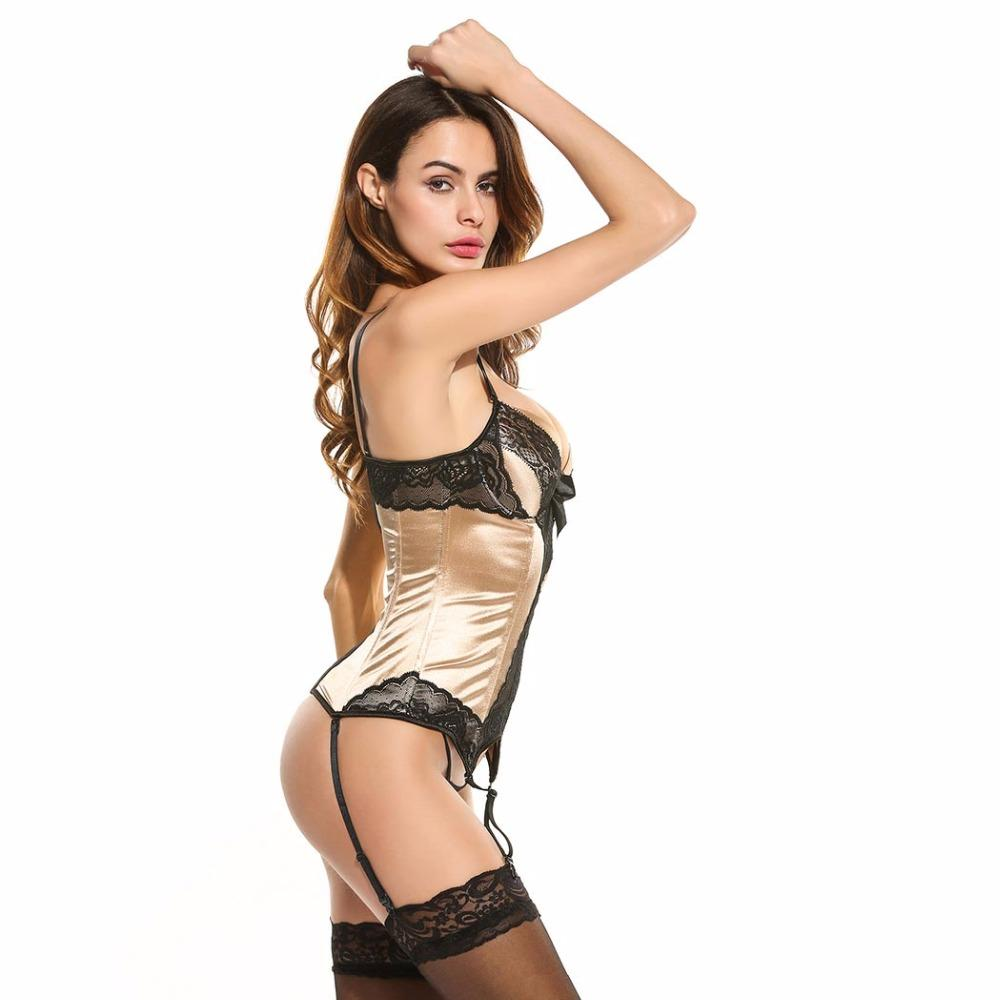 Monique Corset & G-String Set - Apricot