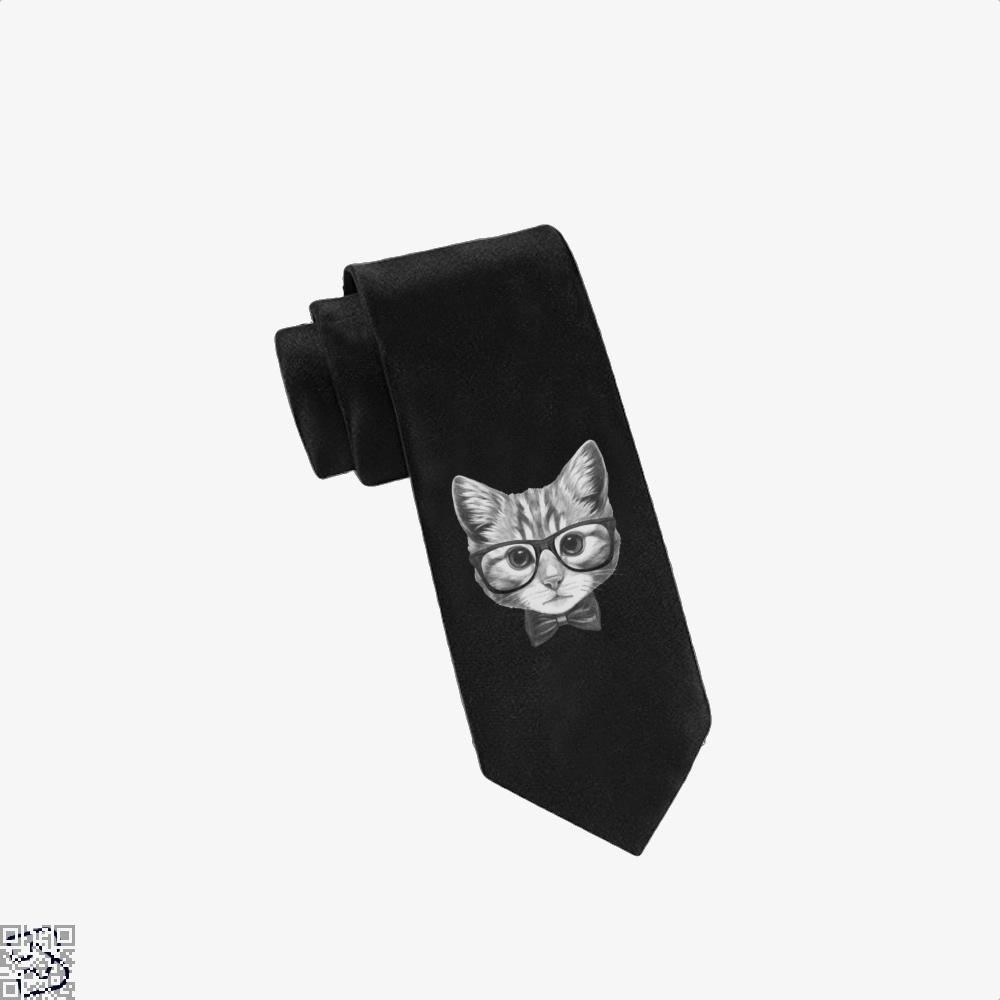 Cat With Glasses And Bow Tie - Black - Productgenjpg