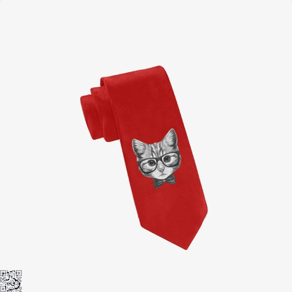 Cat With Glasses And Bow Tie - Red - Productgenjpg