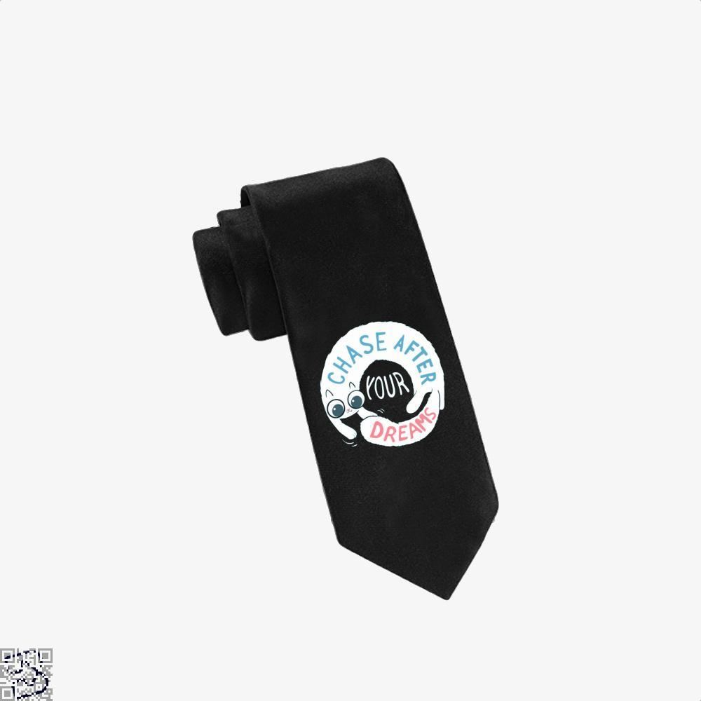 Chase After Your Dreams Cat Tie - Black - Productgenjpg