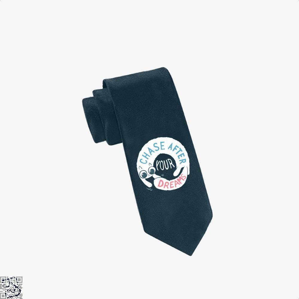 Chase After Your Dreams Cat Tie - Navy - Productgenjpg