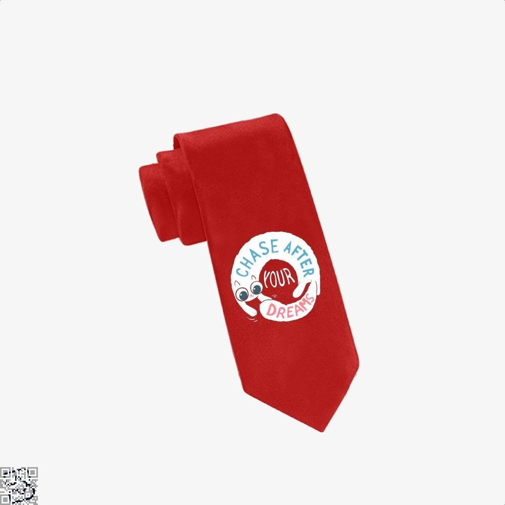 Chase After Your Dreams Cat Tie - Red - Productgenjpg