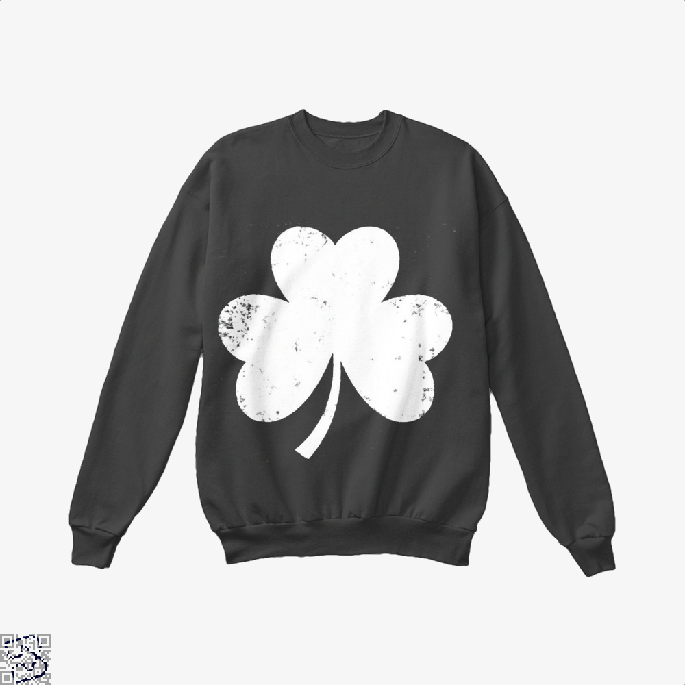 Clover Trefoil Saint Patricks Day Crew Neck Sweatshirt - Black / X-Small - Productgenjpg