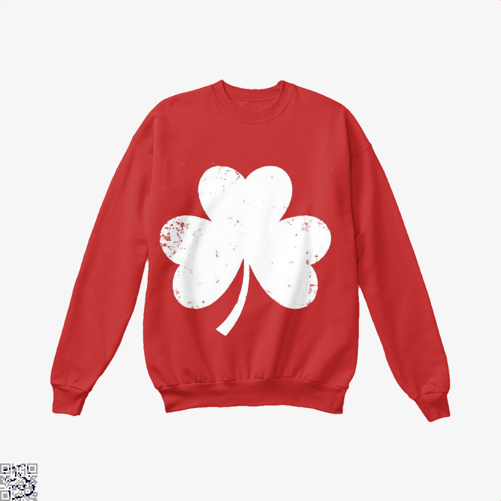 Clover Trefoil Saint Patricks Day Crew Neck Sweatshirt - Red / X-Small - Productgenjpg