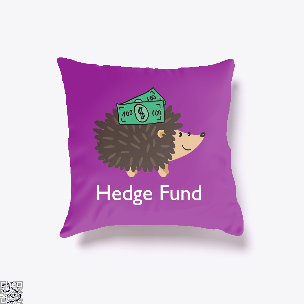 Hedge Fund Hedgehog, Hedge Fund Throw Pillow Cover