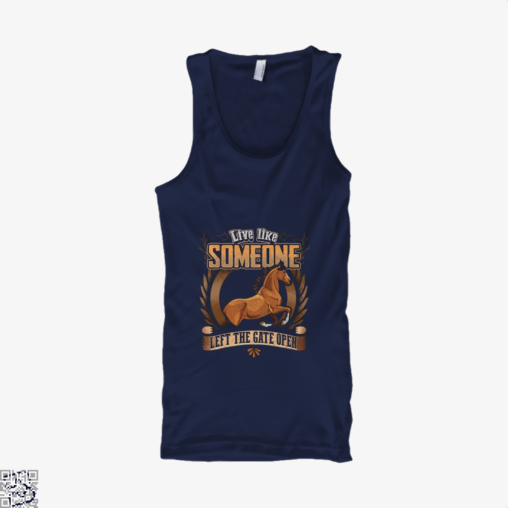 Live Free Horse Lover Tank Top - Men / Blue / X-Small - Productgenjpg