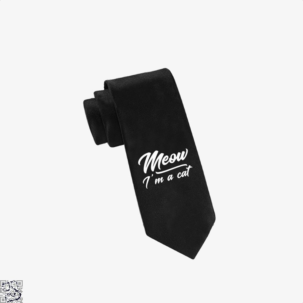 Meow Im A Cat Tie - Black - Productgenjpg