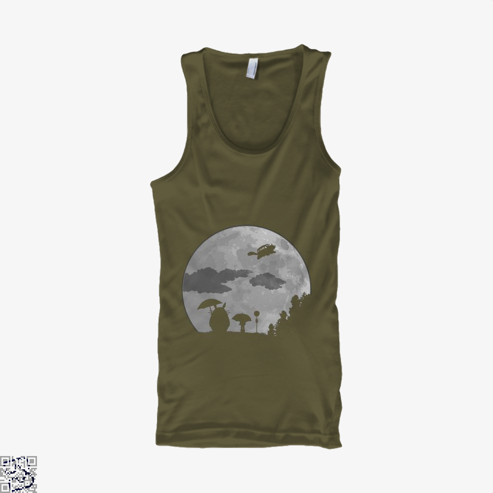 Moon Light My Neighbour Totoro Tank Top - Men / Brown / Small - Productgenapi