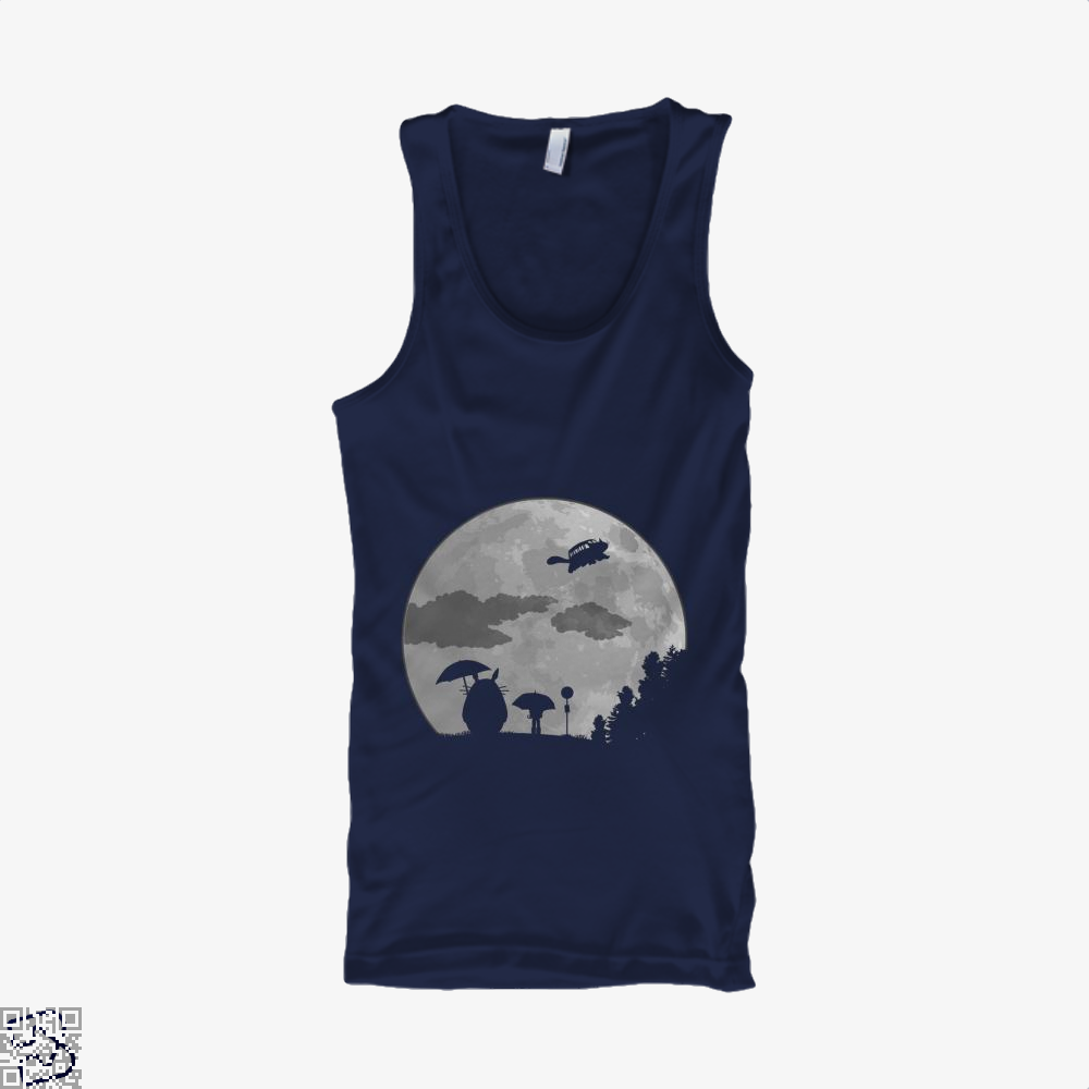 Moon Light My Neighbour Totoro Tank Top - Women / Blue / Small - Productgenapi