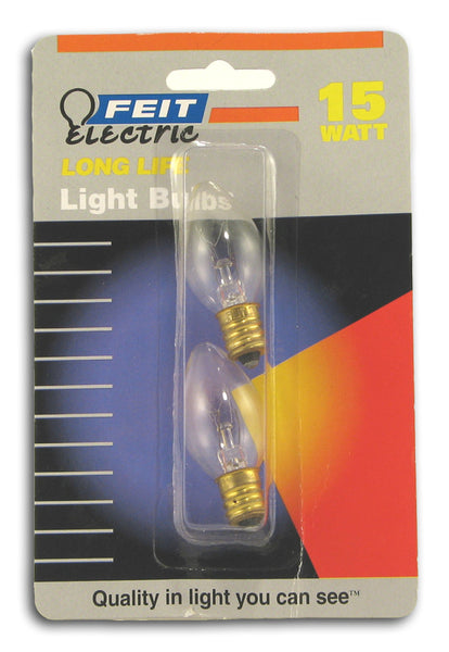 15 W Night Light Bulb, 2 bulbs