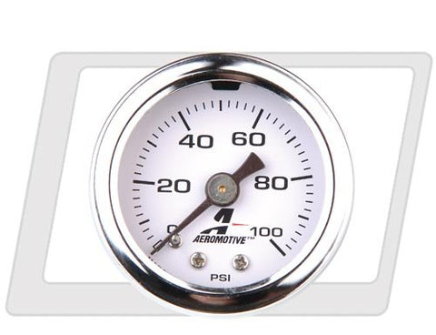 Aeromotive 0-100psi Fuel pressure gauge - 15633