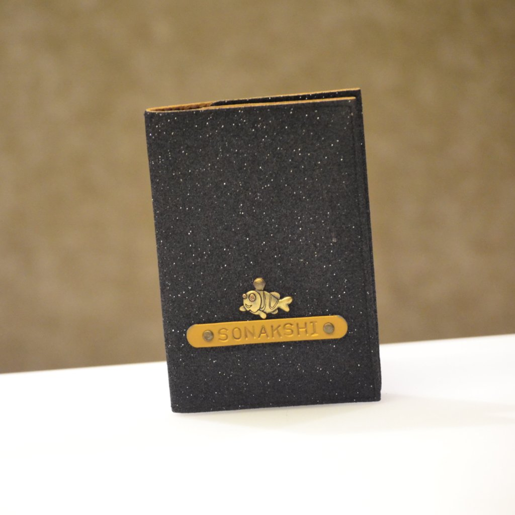 Starry Black Passport Cover