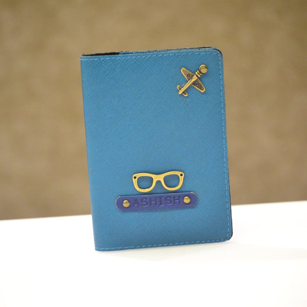 Coral Blue Passport Cover