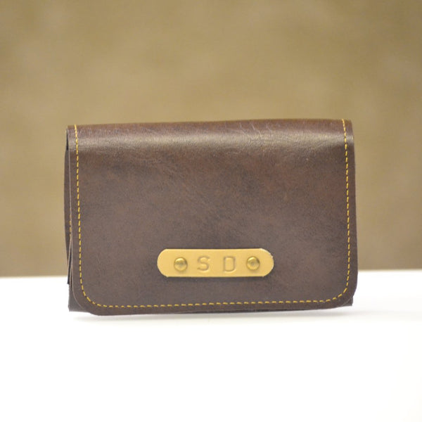 Coffee Brown Business Card Holder