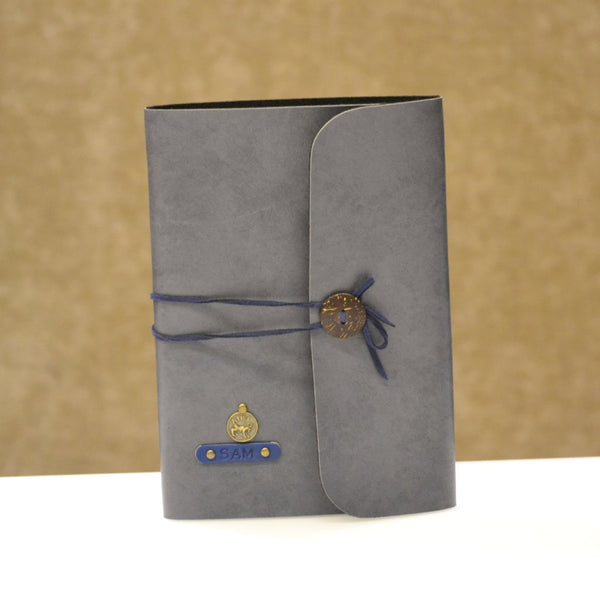 Grey with Blue Thread Diary