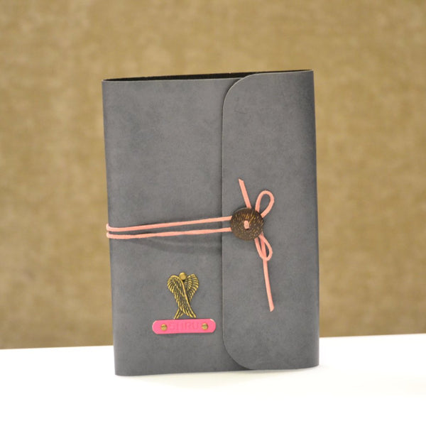 Grey with pink thread Diary