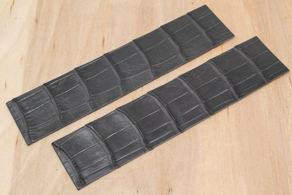 Alligator Watch Strap Panels, Anthracite (Matte Finish)