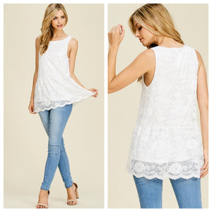 Bethany Lace Sleeveless Top