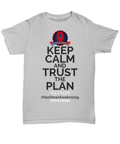 Image of Q-Trust the Plan WWG1WGA Qanon The Great Awakening T-shirt