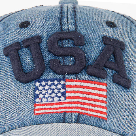Image of American Flag USA Denum Hat