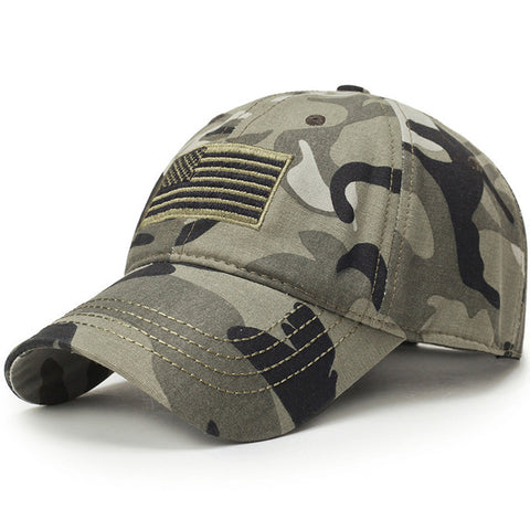 Image of USA Flag Camouflage Baseball Cap